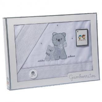 Juego de sábanas de cuna perritos - Ver los detalles del producto