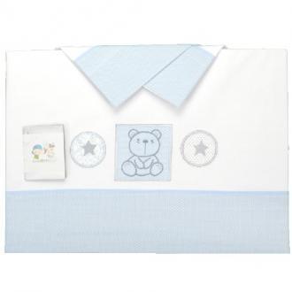 Juego de sábanas de cuna osito estrella - Ver los detalles del producto