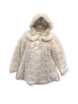 Abrigo de pelo con capota rosetones - Ver los detalles del producto
